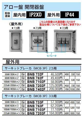 パナソニック Panasonic 電設資材アロー盤アロー盤 開閉器盤BNB7202F