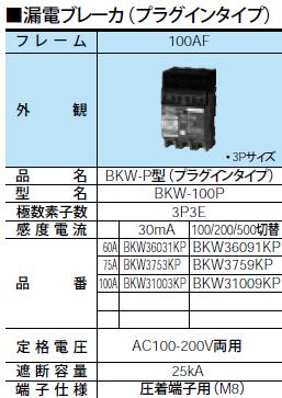 パナソニック Panasonic 電設資材アロー盤動力分電盤 分岐回路用ブレーカBKW3753KP, 大和町 9feeb42e