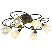 ●AA39797Lilum ITALY LEDシャンデリア Spirale 6灯 4.5畳用ランプ交換可能型 LED26.4W 電気工事不要 非調光 電球色コイズミ照明 照明器具 洋風 おしゃれ リビング用 ヨーロッパ風照明 【~4.5畳】