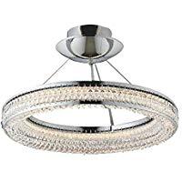 AH42697LLED一体型 シャンデリア Gluxy Ring(グラグジーリング) 8畳用LED38.6W 要電気工事 調光可 電球色コイズミ照明 照明器具 洋風 おしゃれ リビング用 ヨーロッパ風照明 【~8畳】