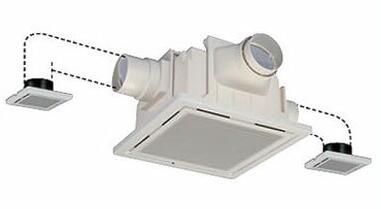 東芝 換気扇低騒音ダクト用換気扇2~3室用 トイレ・洗面所・浴室用DVP-20CLTS4