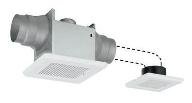 東芝 天井埋込形低騒音ダクト用換気扇2部屋用 スタンダード格子タイプトイレ・洗面所・浴室用DVP-T10L