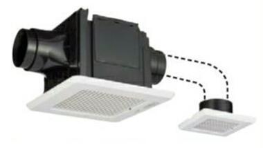 東芝 天井埋込形低騒音ダクト用換気扇2部屋用 ルーバーセット・スタンダード格子タイプトイレ・洗面所・浴室用DVP-T14CLDA