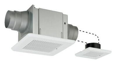 東芝 天井埋込形低騒音ダクト用換気扇2部屋用 スタンダード格子タイプトイレ・洗面所・浴室用DVP-T14L