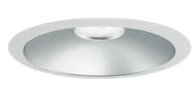 三菱電機 施設照明LEDベースダウンライト MCシリーズ クラス25097° φ150 反射板枠(銀色コーン 遮光15°)温白色 一般タイプ 固定出力 水銀ランプ100形相当EL-D05/3(251WWM) AHN