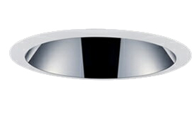 三菱電機 施設照明LEDベースダウンライト MCシリーズ クラス15049° φ150 反射板枠(深枠タイプ 鏡面コーン 遮光30°)電球色 一般タイプ 固定出力 FHT32形相当EL-D09/3(15127M) AHN