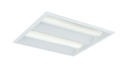 三菱電機 施設照明LEDスクエアベースライト 一体形□450 埋込形(下面開放タイプ)クラス800 FHP32形×4灯器具相当ダクト回避形 電球色 連続調光(信号制御)EL-SK8010L/4 AHTZ