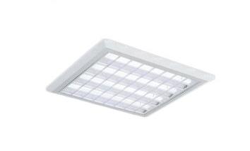 遠藤照明 施設照明LEDスクエアベースライト TWIN TUBEシリーズ本体のみ 埋込・直付兼用□680 非調光白ルーバ形 Cチャンネル回避形ERK9065W