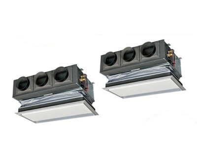 三菱重工 業務用エアコン エクシードハイパー天埋カセテリア 同時ツイン160形FDRZ1605HP5S(6馬力 三相200V ワイヤード キャンバスダクトパネル仕様)