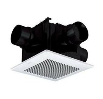 パナソニック Panasonic 天井埋込形換気扇<DCモーター>2~3室換気用 低騒音形・風量一定制御 ルーバーセットタイプ浴室、トイレ・洗面所用FY-24CDTK7