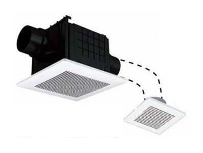 パナソニック Panasonic 天井埋込形換気扇2室換気用 ルーバーセットタイプ 低騒音形浴室、トイレ・洗面所用 吸込グリル付属FY-24CPKS7