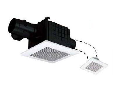 パナソニック Panasonic 天井埋込形換気扇2室換気用 ルーバーセットタイプ 低騒音・大風量形浴室、トイレ・洗面所用 吸込グリル付属FY-24CPKSS7