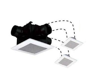 パナソニック Panasonic 天井埋込形換気扇2~3室換気用 ルーバーセットタイプ 低騒音・大風量形浴室、トイレ・洗面所用 吸込グリル2個付属FY-24CTS7V
