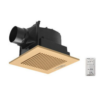 パナソニック Panasonic 天井埋込形換気扇パッと換気スイッチ付 ルーバー組合せ品番(樹脂製 横格子 ライトブラウン) 低騒音形浴室、トイレ・洗面所、居室・廊下・ホール・事務所・店舗用FY-24J8VC/84