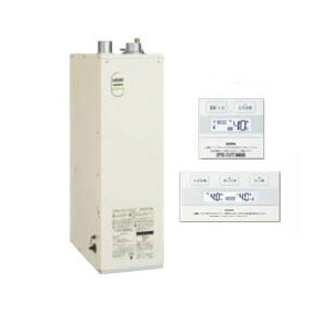 サンポット 石油給湯機器エコフィール 水道直圧式 フルオートタイプ給湯+追いだき 床置式 屋内設置型 46.5kW強制給排気 簡単リモコン付属HMG-E478ASF + SRC-477A