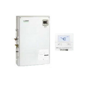 サンポット 石油給湯機器停電時自立型エコフィール 水道直圧式 給湯専用床置式 屋外設置型 46.5kW開放タイプ ステンレス外装 インターホンリモコン付属HMG-E478MSO-1