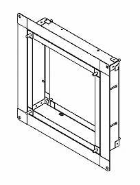 東芝 換気扇システム部材有圧換気扇専用スライド取付枠 KW-S40VP