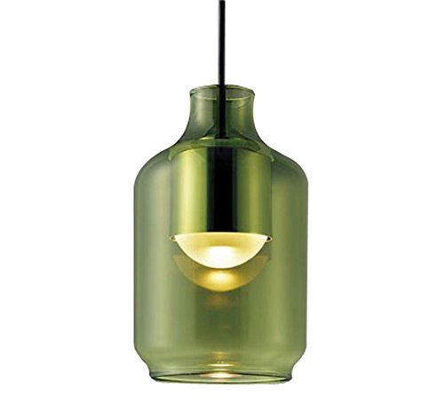 パナソニック Panasonic 照明器具LEDペンダントライト 電球色 美ルックガラスセードタイプ グリーン(筒型) 拡散タイプ 40形電球相当LGB10426LE1