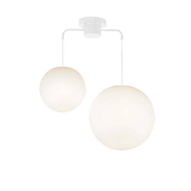 パナソニック Panasonic 照明器具LEDシャンデリア 電球色 直付吊下型MODIFY スフィア型 M・Lサイズ 60形電球3灯相当LGB19221WZ