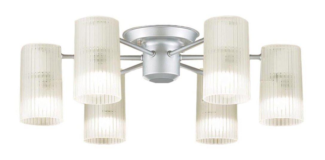 パナソニック Panasonic 照明器具LEDシャンデリア 電球色 40形電球6灯相当LGB57653K【~6畳】