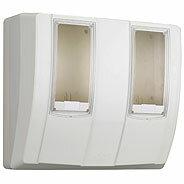 日東工業 計器収納ボックスメーターボックス(隠蔽配線用)2コ用MBC-332WG