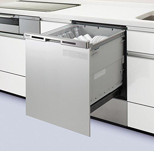 ●パナソニック Panasonic ビルトイン食器洗い乾燥機ディープタイプ キッチン奥行60cm対応機 幅45cmドアパネル一体型(シルバー)NP-45MC6T
