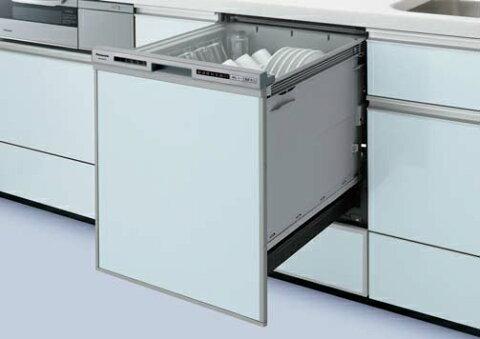 ●パナソニック Panasonic ビルトイン食器洗い乾燥機ディープタイプ R7シリーズ 奥行65cm 幅45cmドアパネル型(ブラック)NP-45RD7K