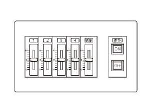 パナソニック Panasonic 施設照明スライド式手動調光操作器 NQ77004