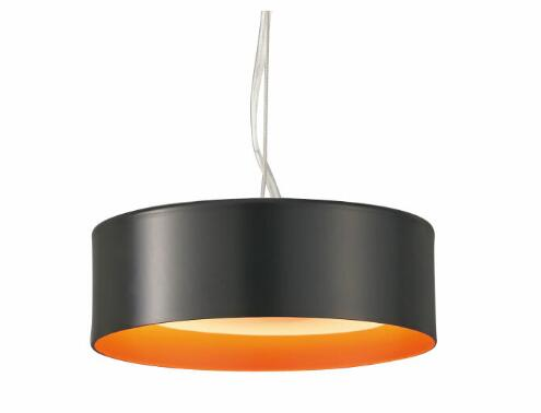 山田照明 照明器具LED一体型ペンダントライト Orb(オーブ)スイッチ付 電球色 白熱40W相当 非調光 ブラック&レッドセードPD-2908-LL