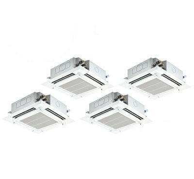 三菱電機 業務用エアコン 4方向天井カセット形<ファインパワーカセット>スリムER(ムーブアイセンサーパネル)同時フォー224形PLZD-ERP224EER(8馬力 三相200V ワイヤード)