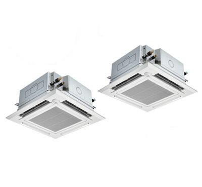 三菱電機 業務用エアコン 4方向天井カセット形<ファインパワーカセット>スリムZR ぐるっとスマート気流(人感ムーブアイ)同時ツイン80形PLZX-ZRMP80ELFGR(3馬力 三相200V ワイヤレス)