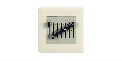 三菱電機 施設照明部材照明制御 調光システム6チャンネル手動操作器SC0406