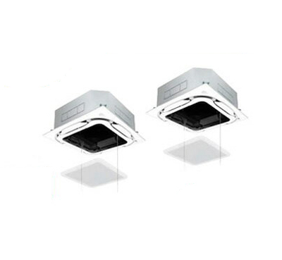 ダイキン 業務用エアコン EcoZEAS天井埋込カセット形S-ラウンドフローオートグリルパネル 同時ツイン140形SZRC140BCD(5馬力 三相200V ワイヤード)■分岐管(別梱包)含む