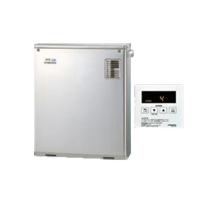 コロナ 石油給湯機器SAシリーズ(水道直圧式)給湯専用タイプ UIBシリーズ 据置型 46.5kW屋外設置型 前面排気 シンプルリモコン付属 高級ステンレス外装UIB-SA47MX(MS)