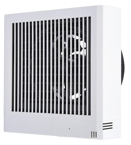 三菱電機 パイプ用ファン居室用 角形格子グリル雑ガスセンサータイプ 電気式シャッター付V-12PNSD7