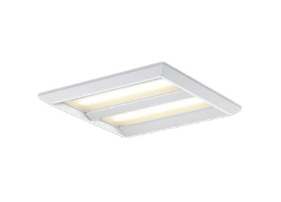 コイズミ照明 施設照明cledy EPシリーズ エコパネルLEDベースライトスクエアタイプ Cチャンネル回避 直付埋込両用型FHP32W×3クラス 電球色 非調光XD43754L