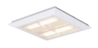 パナソニック Panasonic 施設照明一体型LEDベースライト 温白色 直埋兼用FHP23形×4灯節電タイプ スクエアタイプ 格子タイプ □470 連続調光型XL463CBFLA9