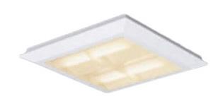 パナソニック Panasonic 施設照明一体型LEDベースライト 電球色 直埋兼用FHP23形×4灯節電タイプ スクエアタイプ 格子タイプ □470 連続調光型XL463CBTLA9