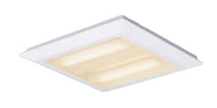 パナソニック Panasonic 施設照明一体型LEDベースライト 電球色 直埋兼用FHP23形×4灯節電タイプ スクエアタイプ 下面開放 □470 連続調光型XL463PETLA9