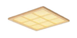 パナソニック Panasonic 施設照明一体型LEDベースライト 電球色 埋込型FHP45形×4灯相当 スクエアタイプ和紙柄パネル □600 木製格子タイプ 連続調光型XL584WATJLA9
