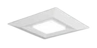 ●パナソニック Panasonic 施設照明一体型LEDベースライト 直付/埋込兼用 スクエア光源タイプ □720コンパクト形蛍光灯FHP32形4灯器具相当温白色 調光タイプ 下面開放型 8000lmXLX181DEVJRZ9