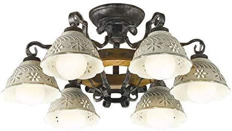 AA42871Lilum ITALY LEDシャンデリア Antico Porecellana 6灯 12畳用ランプ交換可能型 LED42.0W 電気工事不要 非調光 電球色コイズミ照明 照明器具 洋風 おしゃれ リビング用 ヨーロッパ風照明 【~12畳】