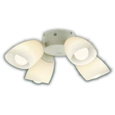 AA43193Lインテリアファン S-シリーズ モダンタイプ専用 灯具のみ 4灯 6畳用ランプ交換可能型 LED31.2W 要電気工事 非調光 電球色コイズミ照明 照明器具 インテリア照明 【~6畳】