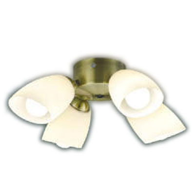 AA43197Lインテリアファン S-シリーズ クラシカルタイプ専用 灯具のみ 4灯 6畳用ランプ交換可能型 LED31.2W 要電気工事 非調光 電球色コイズミ照明 照明器具 インテリア照明 【~6畳】