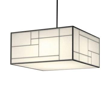 OP252612LED和風ペンダントライト 8畳用リモコン付 非調光 電球色オーデリック 照明器具 和室向け 天井照明 吊下げ インテリア照明 【~8畳】