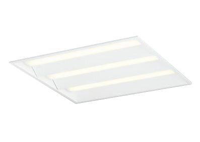 ●オーデリック 照明器具LED-SQUARE LEDベースライト LEDユニット型FHP45W×4灯クラス(省電力タイプ) □600埋込型 ルーバー無 非調光 電球色XD466017P2E