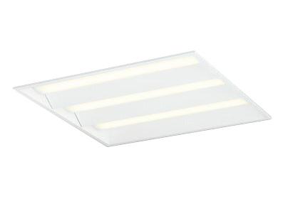●オーデリック 照明器具LED-SQUARE LEDベースライト LEDユニット型FHP45W×3灯クラス(省電力タイプ) □600埋込型 ルーバー無 PWM調光 電球色XD466018P1E