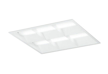 XD466031P2BLED-スクエア LEDユニット型ベースライト省電力タイプ 450シリーズ埋込型 ルーバー付 埋込穴450非調光 昼白色 FHP32W×4灯相当オーデリック 施設照明 オフィス照明 物販店照明 天井照明