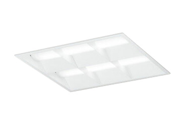 XD466031P2CLED-スクエア LEDユニット型ベースライト省電力タイプ 450シリーズ埋込型 ルーバー付 埋込穴450非調光 白色 FHP32W×4灯相当オーデリック 施設照明 オフィス照明 物販店照明 天井照明