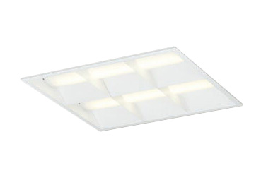 XD466031P2ELED-スクエア LEDユニット型ベースライト省電力タイプ 450シリーズ埋込型 ルーバー付 埋込穴450非調光 電球色 FHP32W×4灯相当オーデリック 施設照明 オフィス照明 物販店照明 天井照明